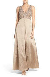Aidan Mattox Women's Beaded Bodice Gown