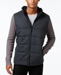 Alfani Men's Multi Textured Hooded Jacket Only At Macy's Night Grey Heather