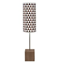 Jefdesigns Triangle 1 Cuboid Table Lamp Brown