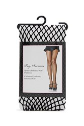 Forever 21 Geo Cut Fishnet Tights Black