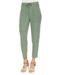 Elizabeth And James Toledo Drawstring Ankle Pants Military Green