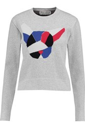 Etre Cecile Intarsia Knit Sweater Light Gray