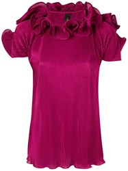 Romance Was Born Bloom Pleated Top Purple