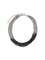 Iosselliani Black Hole Sun Necklace Silver