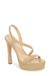 Imagine Vince Camuto By Piera Platform Sandal Nude Patent Leather