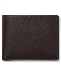 Perry Ellis Leather Park Avenue Bifold Wallet Brown