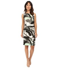 Norma Kamali Sleeveless Shirred Waist Dress Graffiti Women's Dress Multi