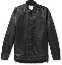 Sacai Layered Nylon Shirt Jacket Black