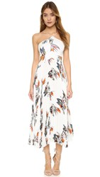 Elle Sasson Camille Dress Ivory Paradise Flower Print