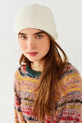 Urban Outfitters Chenille Ribbed Beanie Ivory