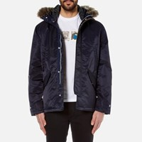 Paul Smith Ps By Men's Short Parka Jacket Navy Blue
