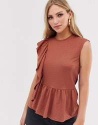 Y.A.S Frill Detail Top Red