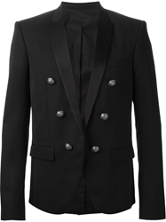 Balmain Satin Collar Blazer Black