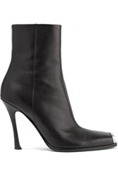 Calvin Klein 205W39nyc Wilamiona Metal Trimmed Leather Ankle Boots Black