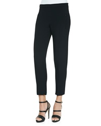 Andrew Gn Stretch Crepe Cigarette Pants Black
