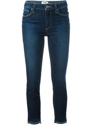 Paige Skinny Cropped Jeans Blue
