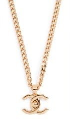 Wgaca What Goes Around Comes Around Chanel Gold Turnlock Long Necklace