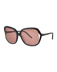 Nina Ricci Open Temple Acetate Sunglasses Black