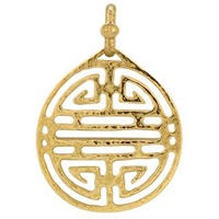 Torrini Chinese Labyrinth 18K Yellow Gold Pendant