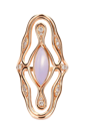 Fernando Jorge Fluid Diamonds And Stone Cross Ring Rose Gold