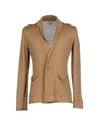 Cycle Knitwear Cardigans Men Camel