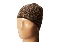 John Varvatos Fairisle Knit Skull Cap Chocolate Caps Brown