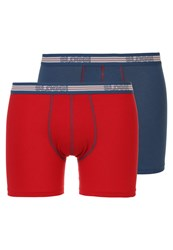 Sloggi 2 Pack Shorts Dark Blue Red