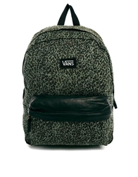 Vans Deana Backpack In Green Leopard Print And Contrast Trim