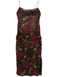 John Galliano Vintage Floral Bias Skirt And Top Multicolour
