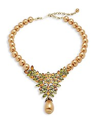 Heidi Daus Crystal Studded Necklace Gold