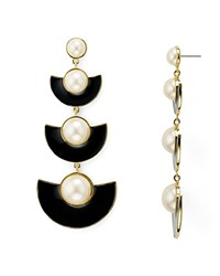 Kate Spade New York Graphic Statement Drop Earrings White Black