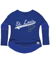 Retro Brand Women's St. Louis Blues Faceoff Thermal Long Sleeve T Shirt Royalblue