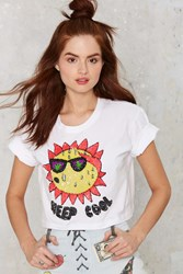 Nasty Gal Emma Mulholland Keep Cool Cropped Sequin Tee
