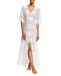 Miguelina Karina Floral Crochet Coverup Dress