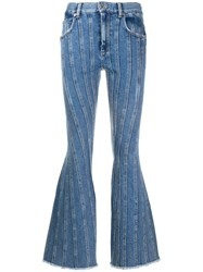 Thierry Mugler Mid Rise Flared Jeans 60