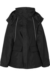 Balenciaga Swing Embroidered Canvas Parka Black