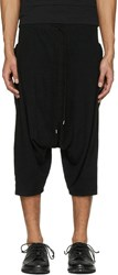 The Viridi Anne Black Baggy Pocket Shorts