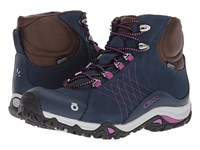 Oboz Sapphire Mid Bdry Huckleberry Shoes Pink