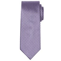 Chester Barrie By Geometric Silk Tie Purple