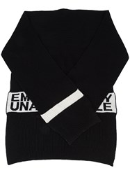 Haculla Emotionally Unavailable Knit Scarf Black