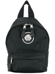 Versus Lion Plaque Small Backpack Black
