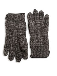 Portolano Knit Cashmere Gloves Black Multi