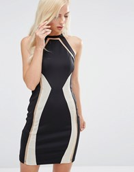 Forever Unique Devi Midi Dress With Chain Mail Detil Black And Gold
