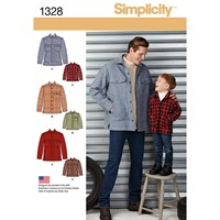 Simplicity Men's And Boy's Jackets Sewing Patterns 1328