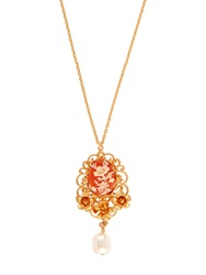 Dolce And Gabbana Cameo Embellished Necklace