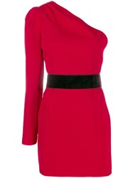 P.A.R.O.S.H. One Shoulder Dress Red