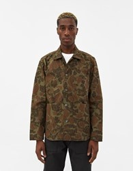 Rogue Territory Annniversary Harbor Jacket In Olive Camo Size Small 100 Cotton