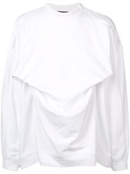 Y Project Pleated Design Sweater White