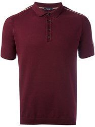 Roberto Collina Striped Sleeves Polo Shirt Red