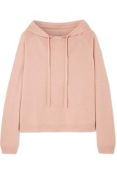 Allude Wool And Cashmere Blend Hoodie Beige